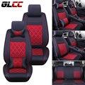 Novo estilo de Luxo de Couro do carro-covers Front & Rear Tampas de Assento Conjunto Completo para Universal 5 assento de Carro tampas de assento de automóveis