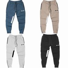 2019 Men Autumn Cotton Long pants Male Gyms Fitness Casual Fashion sweatpants Jogger Bodybuilding Pants Skinny Brand Trousers