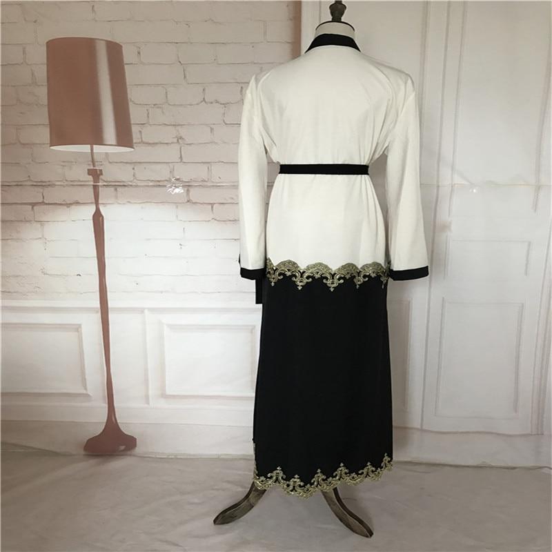 Muslim Cardigan Abaya Pakaian Turki Wanita Pakaian Panjang Pakaian - Pakaian kebangsaan - Foto 5