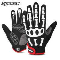 SPAKCT Schädel Bike Fahrrad Handschuhe Lange Finger Volle Finger Reiten Racing Radfahren Handschuhe Silikon GEL Ciclismo Handschuhe Warme Winter