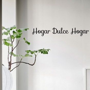 Hogar Dulce Hogar Wall Decals Spanish Sweet Home Quotes Vinyl Stickers for House Decor image