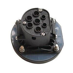 Image 4 - EVSE EV 16A 32A אספקת חשמל טעינת צד סוג 2 נקבה תקע שקע עבור חשמלי רכב רכב טעינת תחנת 4 נקודת תיקון
