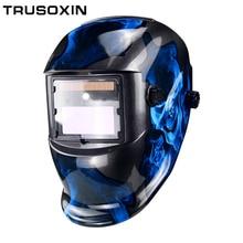 LED Light DIN9-DIN13 Solar Auto Darkening TIG MMA ZX7 MIG Welding Mask Helmet Welder Cap Glasses
