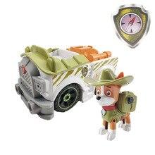 Щенячий патруль, Щенячий трекер, оттягивающийся музыкальный патрульный автомобиль, Patrulla Canina кукла, игрушка из ПВХ, фигурка, модель игрушки, подарок для детей