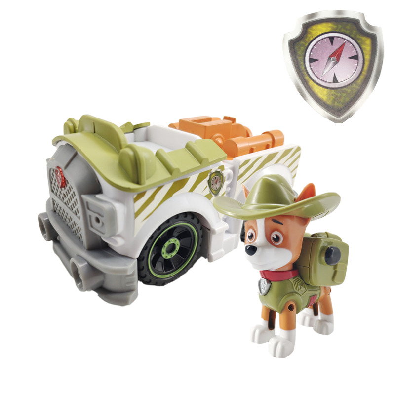 Paw Patrol Dog Tracker Puppy Pull Back Music Patrol Car Patrulla Canina PVC Doll Toys Action Figure Model Toy Kid Gift