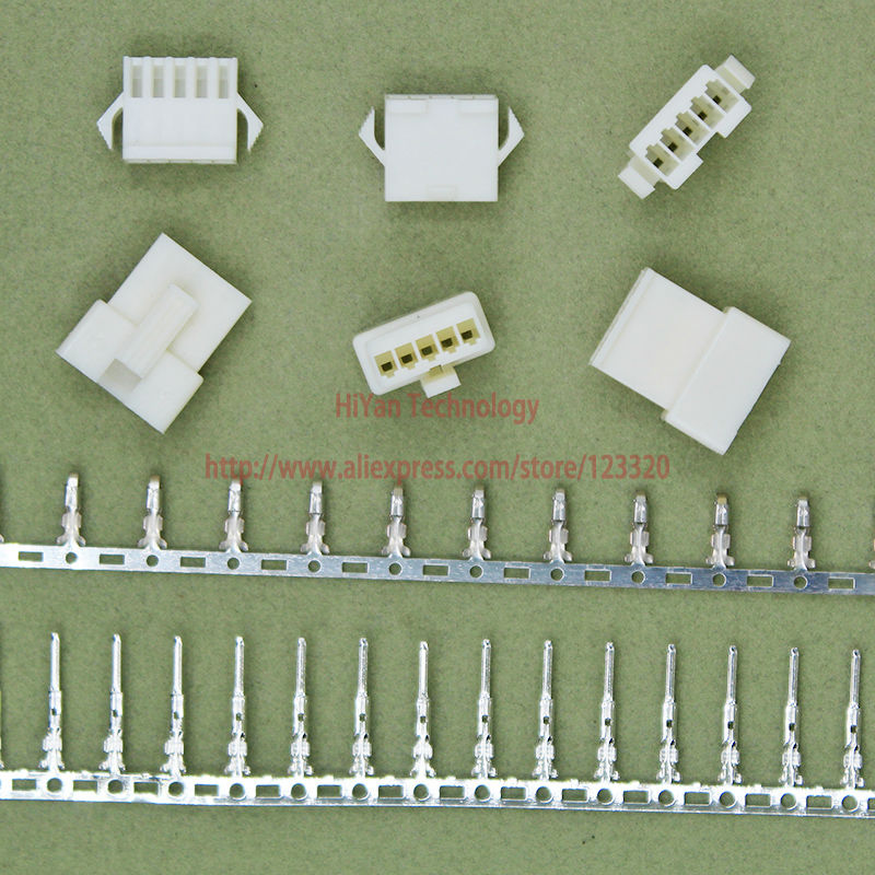 (50sets/lot) connectors SM SM2.54 5Pin Pitch:2.54MM White Flame-Retardant Female and Male Housing + terminals SM-5P JST2.54