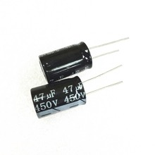 100 PCS 47 미크로포맷 450 V 47UF450V 방사형 전해 콘덴서 16mm X 25mm 무료 배송