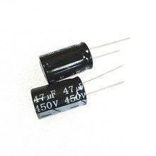 100 pz 47 uf 450 v 47UF450V Radial Condensatore Elettrolitico 16mm X 25mm di Trasporto libero