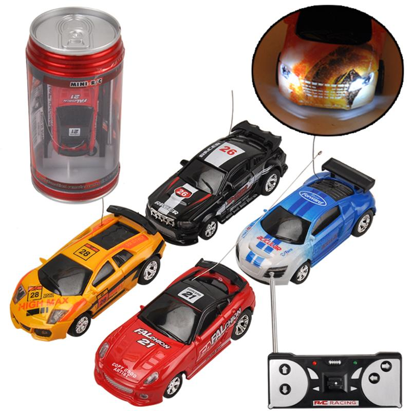 Coke Can Mini RC Car Multi-color High Speed Truck Radio Remote Control Micro Racing Vehicle Controle Electric Toy For Boys Gift radio-controlled car