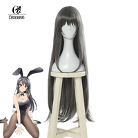 ROLECOS Mai Sakurajima Cosplay Hair Anime Seishun Buta Yarou wa Bunny Girl Senpai no Yume wo Minai Cosplay Long Hair Headwear