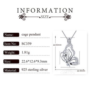Image 2 - CLUCI 3pcs 925 Sterling Silver Zircon Butterfly Charms Pendant Silver 925 Pendant for Women Mothers Day Gift Jewelry SC359SB