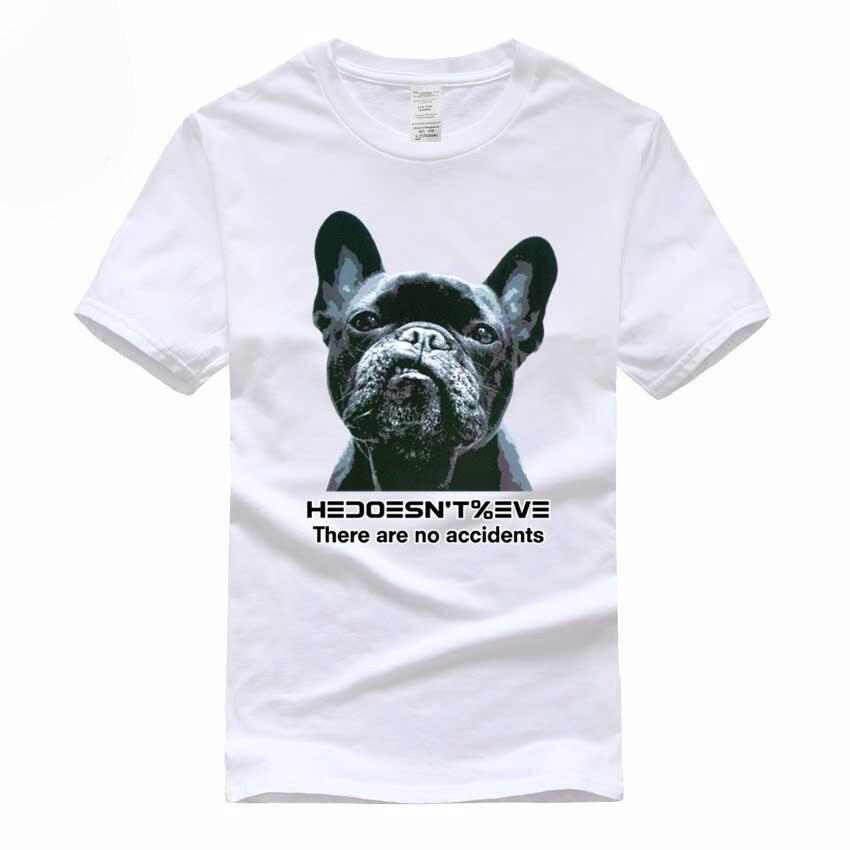 Для мужчин бульдог нет аварии Футболка Модные Костюмы хлопковая футболка для человека и Для женщин, бренд Camiseta, GMT040