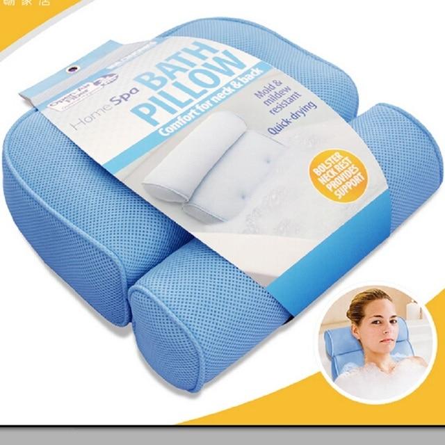 2017 Bathtub Cushions Pillow 3D Jacuzzi Tub With Sucker Anti-skid Bathing Cushions Bath Pillows Non-slip type Bathroom Products