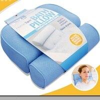 2017 Bathtub Cushions Pillow 3D Jacuzzi Tub With Sucker Anti skid Bathing Cushions Bath Pillows Non slip type Bathroom Products
