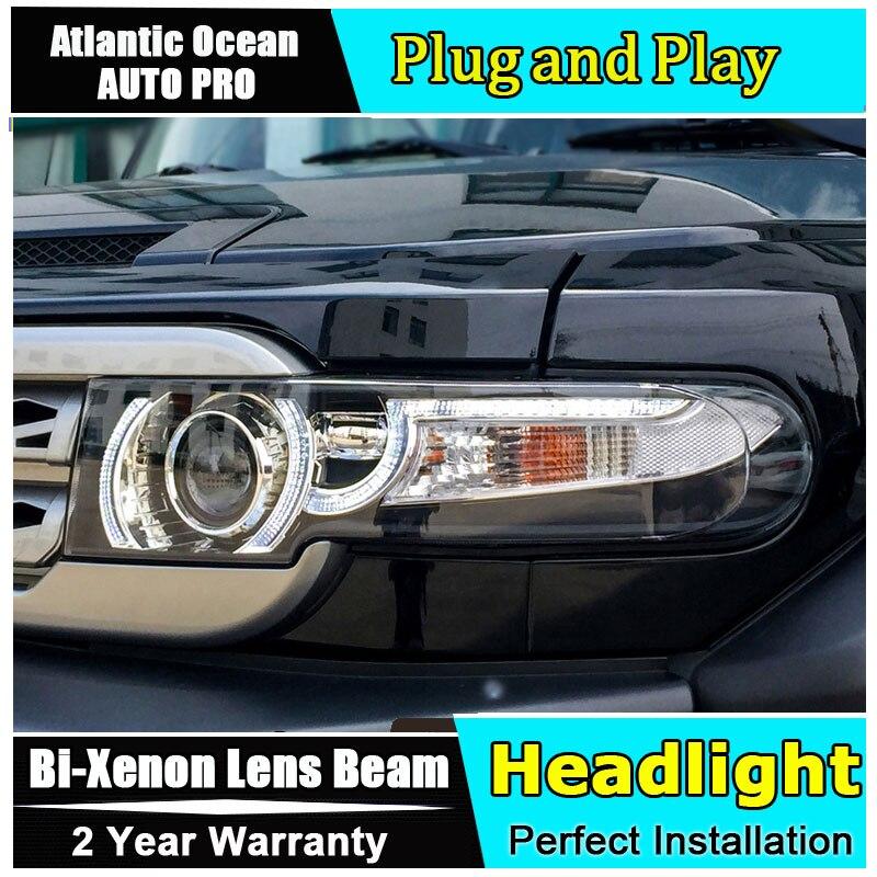 Auto.Pro Car Styling for Toyota FJ Cruiser Headlights New FJ150 LED Headlight Cruiser drl Lens Double Beam HID KIT Xenon