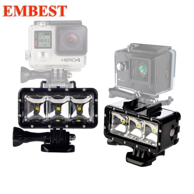 EMBEST 30m Waterproof LED Diving Fill Light 300LM Underwater Flashlight For Gopro Hero 7 6 5 EKEN H9R Mijia 4KAction Cameras