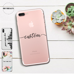 Nome diy design personalizado caso de impressão capa para iphone 6s 5 5S se 7 mais 8 x cidade flor personalizado macio silicone tpu coque capa