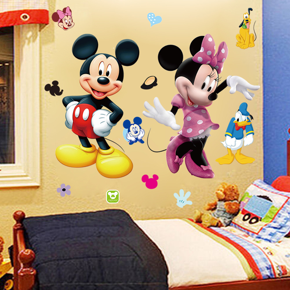 Mickey Mouse Minnie Vinyl Mural Wall Sticker Decals Kids Nursery ...
