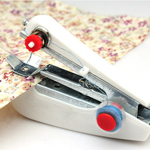 1pcs Hot Selling Useful Portable Needlework Cordless Mini Hand-Held Clothes Fabrics Sewing Machine Random Color(China)