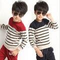 Roupas meninos casaco infantil e calças Twinset terno esportes dos miúdos casuais conjuntos de roupas menino e fatos de treino meninos listradas conjuntos de roupas