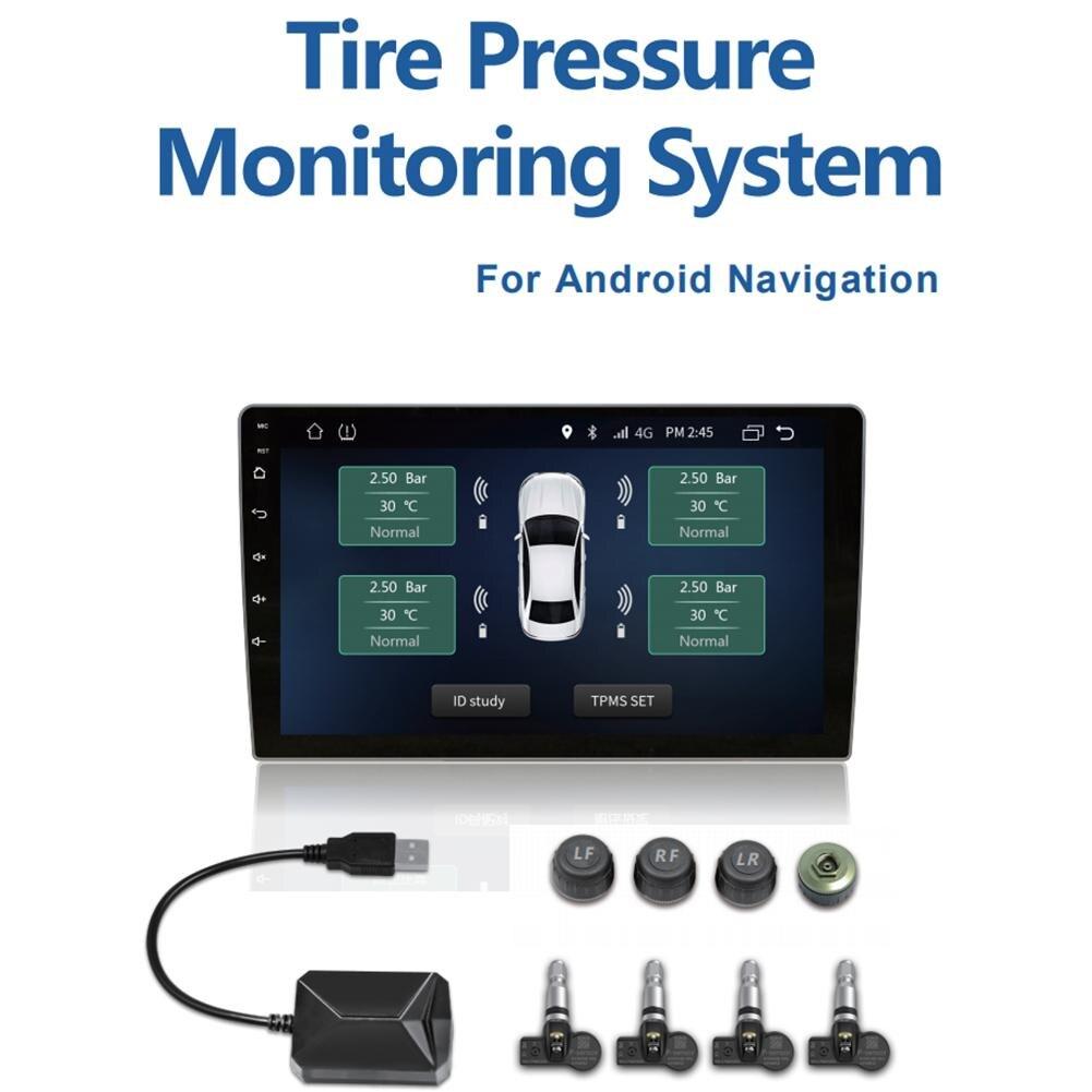 Gros voiture TPMS USB connexion Android DVD/MP5 Navigation grand écran moniteurs surveillance de la pression des pneus système Macka
