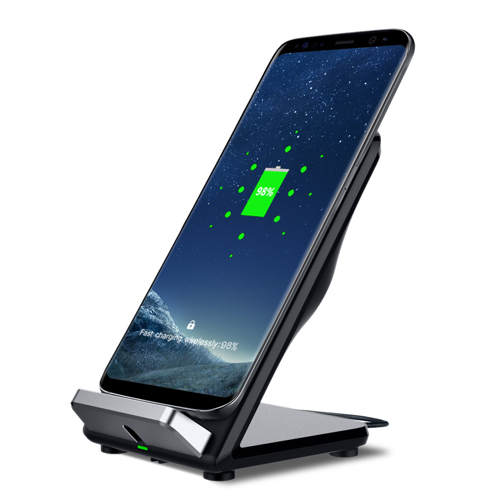 For iPhone XS MAX XR QI Wireless Charger adapter For iPhone X 8 8 Plus Direct Wireless Phone Stand Charger Desktop Holder Dock