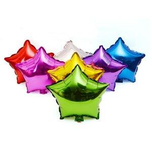 Image 4 - Gorący bubel 5 sztuk 18 cal balon z helem gwiazda ślub duże balony z folii aluminiowej nadmuchiwany prezent dekoracja urodzinowa piłka