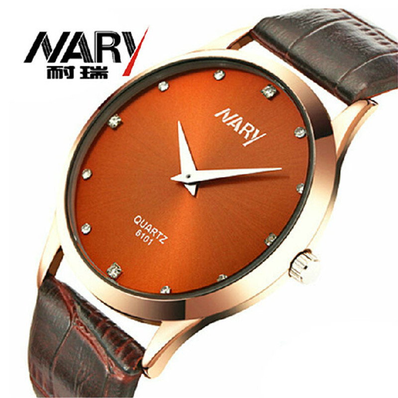 2018 Watch Mens Watches Quartz Nary Leather Strap Quartz Wrist Watch For Men Super Thin Watch Relogio Masculino Relojes Hombre