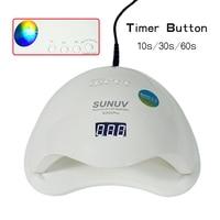 الأصلي SUN5 زائد 48 واط uvled مسمار مصباح مسمار مجفف مع 4 الموقتات ، الاستشعار ، العرض الرقمي و 99 ثانية وضع منخفض الحرارة