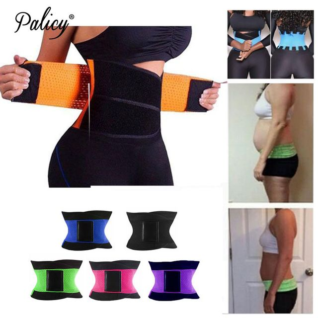 d7a33aedd05 Palicy Women s S-3XL Waist Trainer Corset Neoprene Sauna Suit Body Shaper  Cinta Modeladora Slimming Belt Weight Loss Shapewear