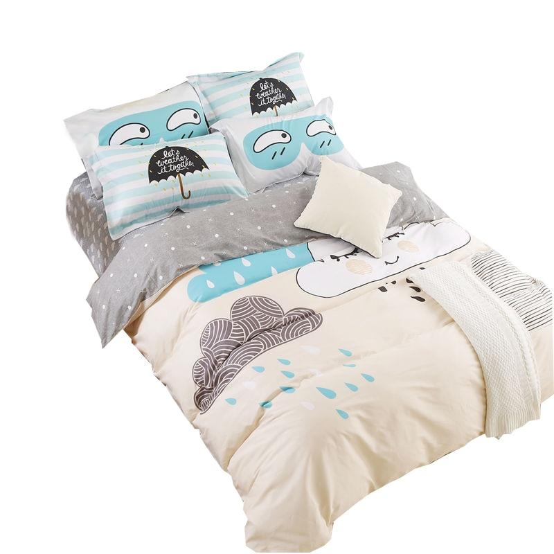 cartoon bedding sets raining cloud 100 cotton sheets sets linens