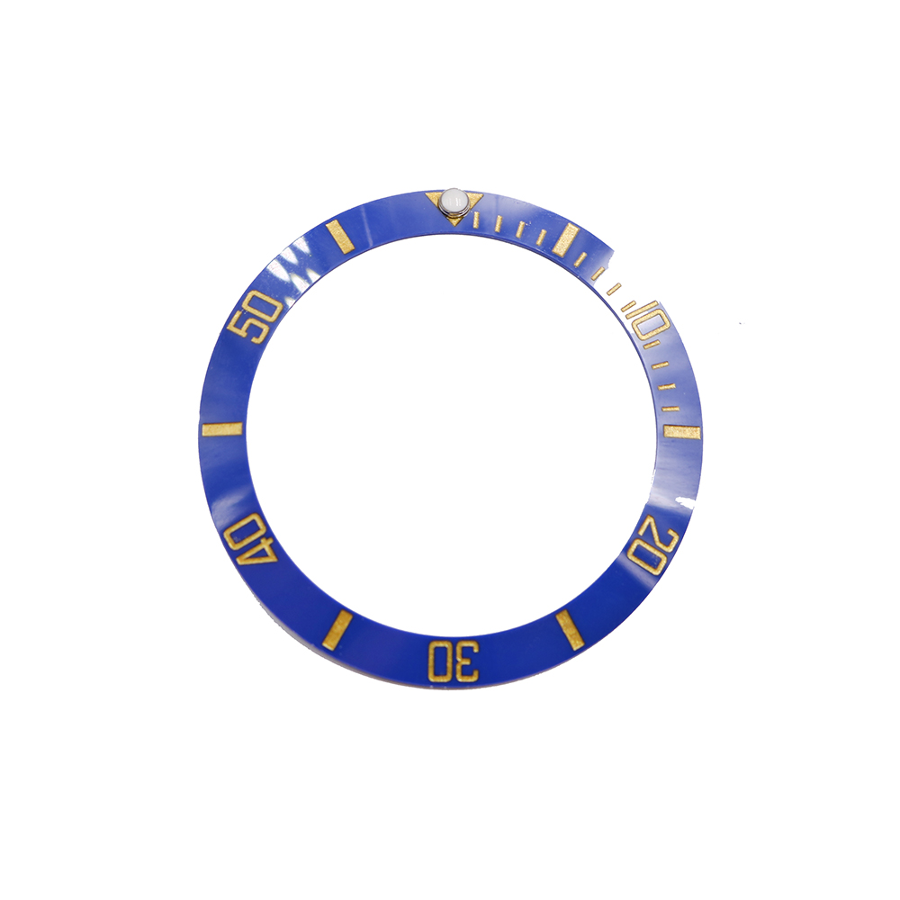 CARLYWET Wholesale Replacement Blue With Gold Writings Ceramic Bezel 38mm Insert made for Submariner GMT 40mm 116610 LN in Repair Tools Kits from Watches