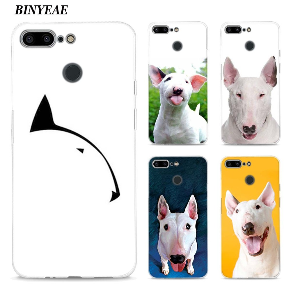 BINYEAE Bullterrier bull terrier Style Silicone TPU Ultra Thin Clear Soft Case for Oneplus 5T Cover Coque