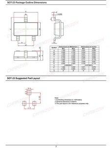 Image 5 - (100 Pcs) BAV70 SMD קטן אות מהיר מיתוג דיודות 200mA 70 V SOT 23 (SOT 23 3) 200 mA 70 וולט (סימון A4)