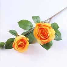 Искусственный цветок искусственный букет роз дома вечерние праздничное свадебное украшение DC120