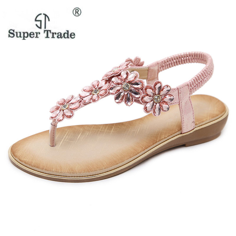2018 New Sandals Women Rhinestone Summer Shoes wedges Slip On Shoes Woman Waterproof Party Women's Shoes Wedding Shoes M30-16 bohemia plus size 34 41 new fashion wedges sandals slip on elastic band casual platform shoes woman summer lady shoes shallow