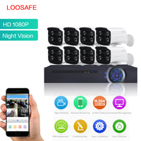 LOOSAFE Surveillance Cameras System AHD CCTV Security Camera 8CH 1080P HDMI CCTV DVR 4PCS 2 0