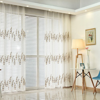 Embroidered Pervious To Light Terylene Double Color Optional Tulle For Living Dining Room Bedroom