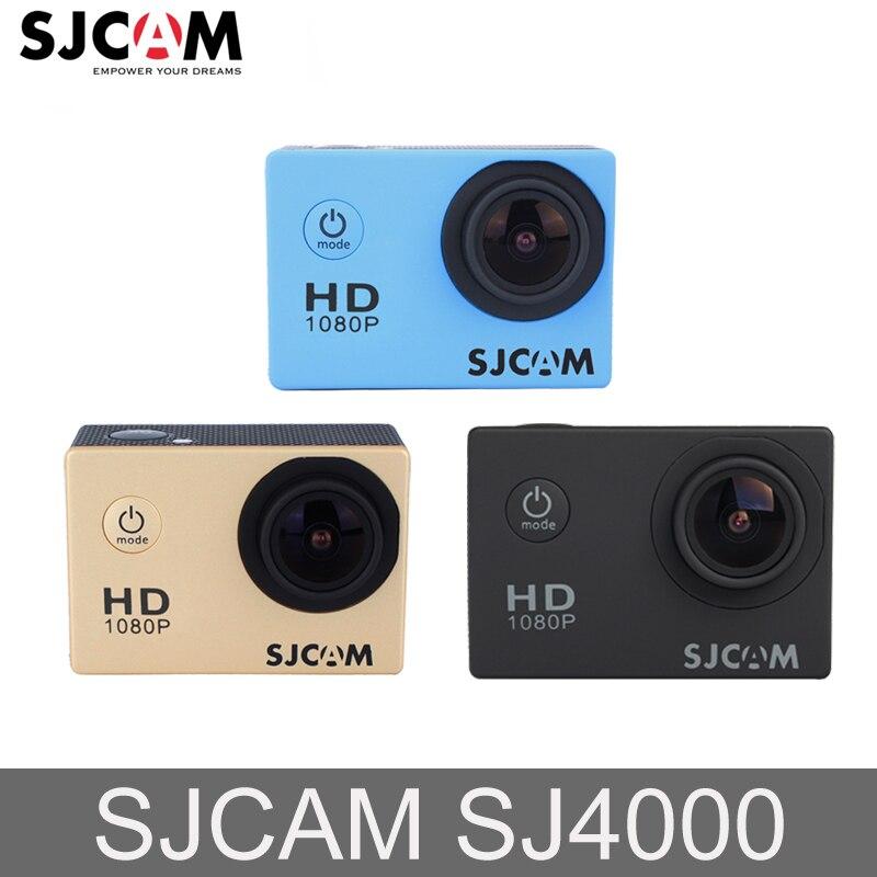 Original Sjcam SJ4000 2 ''écran HD 30 M étanche sous-marine Mini caméra de sport voiture 12MP caméra extérieure DVR caméra d'action
