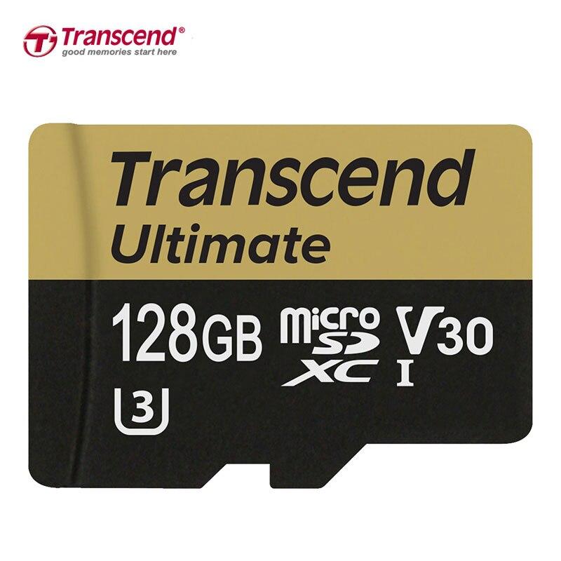 Transcend U3 Carte Mémoire 128 GB 64 GB SDXC Class 10 32 GB 16 GB SDHC UHS-I U3 Mémoire Cartes HD 3D 4 K Vidéo Carte Microsd Avec adaptateur