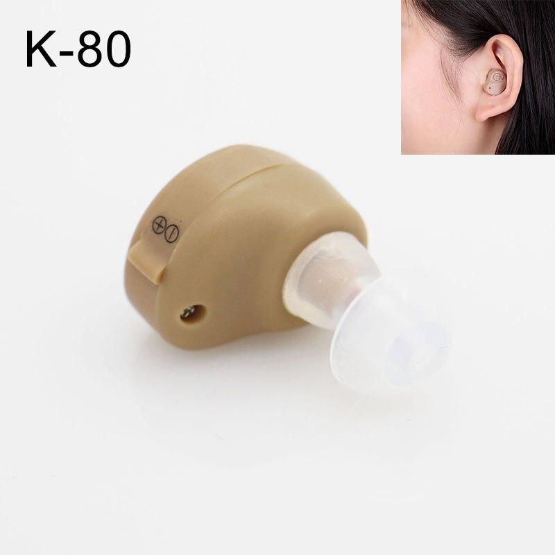 Mini amplificador de som invisível ultra pequeno aparelho auditivo no aumento de som da orelha surdos (audifono para sordo)