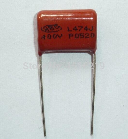 100pcs CBB Capacitor 474 400V 474J 0.47uF 470nF P15 CL21 Metallized Polypropylene Film Capacitor