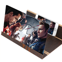 12 Inch Wood 3D HD Mobile Phone Screen Magnifier Screen Amplifier Holder Stand Video Folding Enlarged Expander Desktop Stands