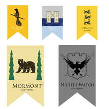 Wall Decor Stark Flag Party Supplies 100D Polyester Home Office Parade Boys Girls Rights Games Banner Game of Thrones 75x125cm