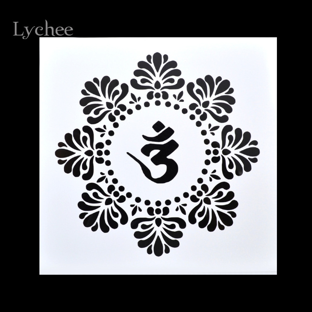 0b6eca3513 Lychee Scrapbooking Tool Card DIY Album Masking Spray Painted Template  Drawing Stencils Laser Cut Templates Lotus Zen Yoga