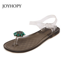 e9b49823d6ed4 New Gladiators Sandals For Women Rhinestone Flat Heel Students Sandals  Summer Ladies Beach Pinch Toes Shoes