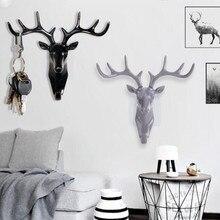Слон, голова оленя, животное, самоклеющаяся одежда, дисплей, крючок для стоек, пальто, вешалка, колпачок, декор для комнаты, шоу, настенная сумка, ключи, липкий держатель