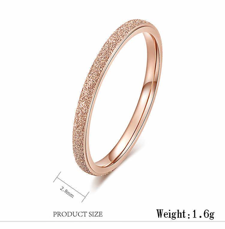 f8fe4b259c66 ... Классический Простой матовой узкой широкие кольца Нержавеющая сталь для  Для женщин Мода кольцо из розового ...
