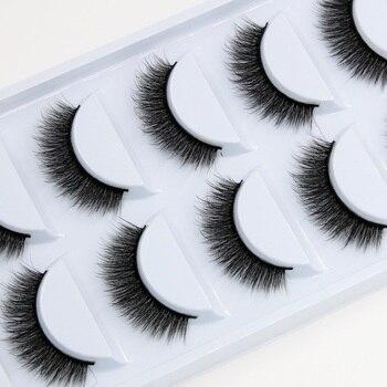YOKPN 5 Pairs Exaggerated Color False Eyelashes Crisscross Messy Thick Crystal  Eyelashes Stage Latin Makeup Fake Eyelashes