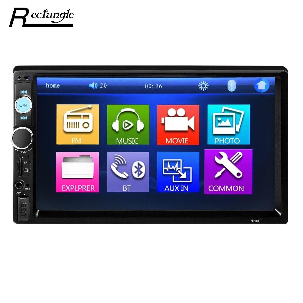 7010B Tela Sensível Ao Toque de 7 polegadas Jogador MP5 Carro 2Din Universal Car Video Player Multimídia de Áudio Estéreo FM/MP5/USB/AUX/Bluetooth Câmera